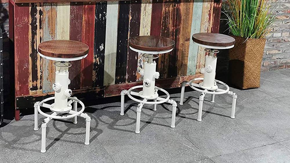 3 sgabelli idrante vintage