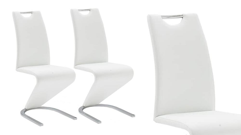 sedia di design in plastica bianca
