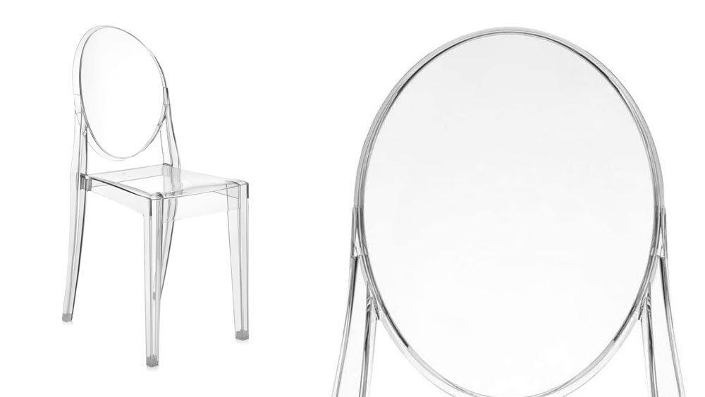 sedia di design bianca dettaglio