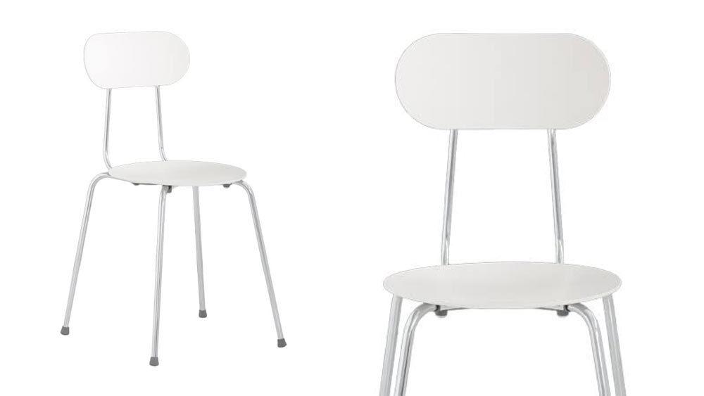 sedia di design bianca