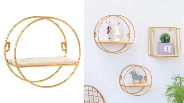 mensole di design per il soggiorno con oggettistica