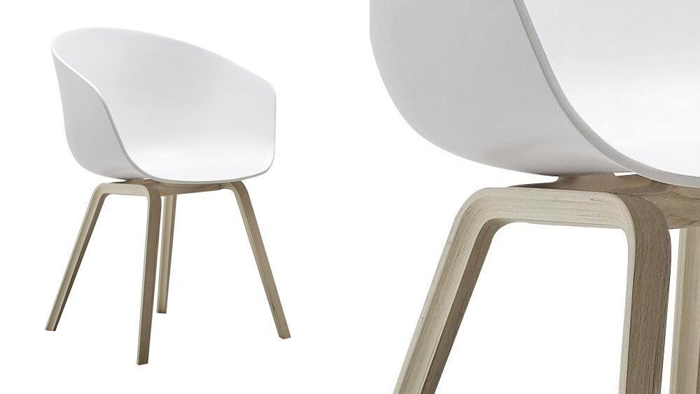 sedia scandinava bianca