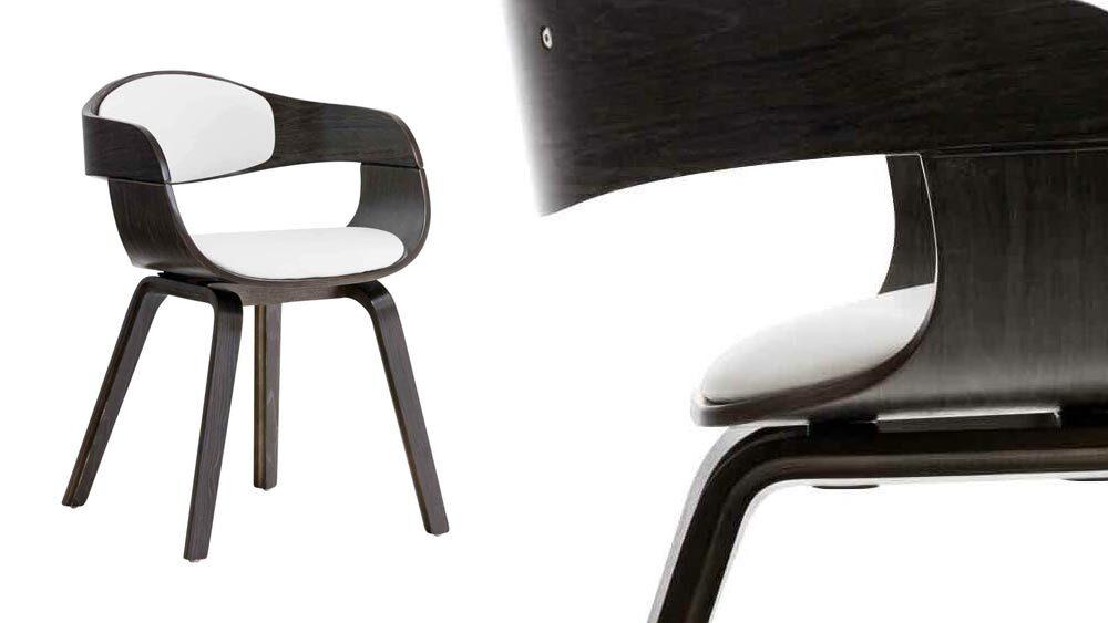 sedia scandinava bianca e nera