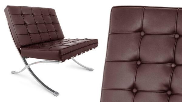 Esempio sedia per ufficio modello barcelona