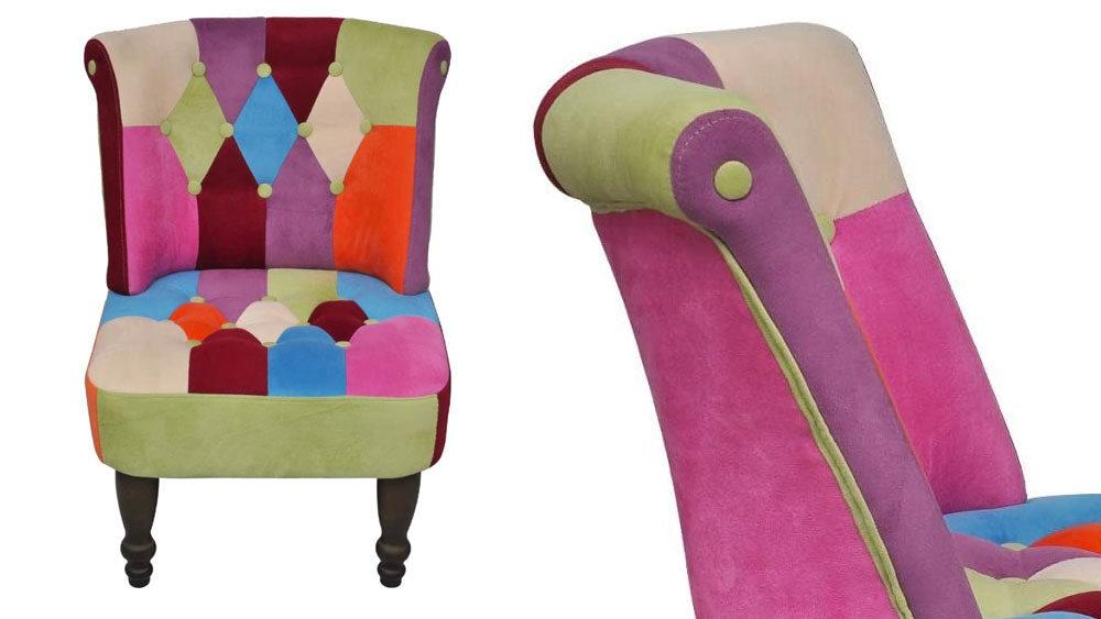 sedia multicolore anni 70