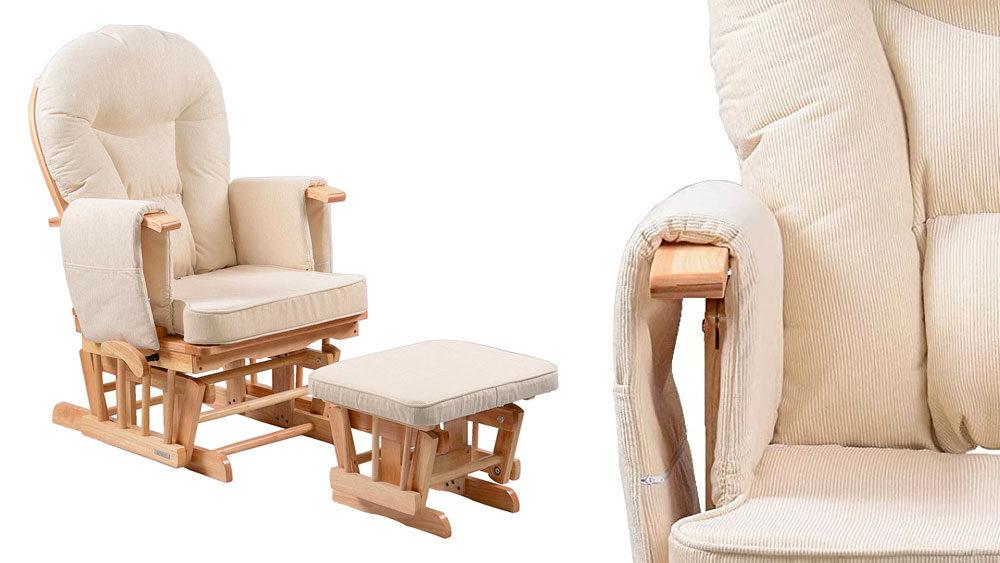 Sedia per il soggiorno con poggiapiedi