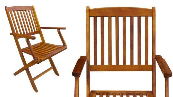 sedie giardino in legno