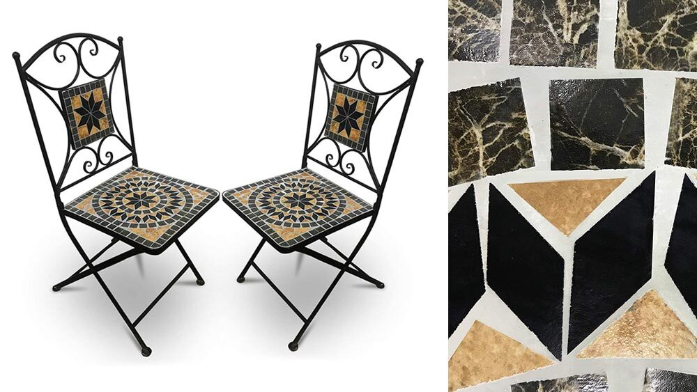 sedie giardino modello mosaico