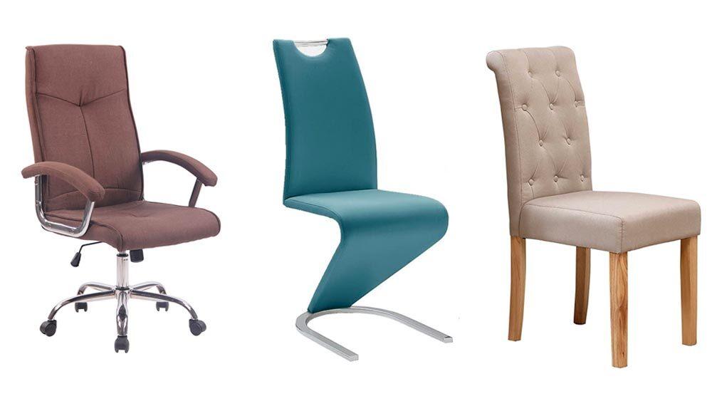 tre modelli di sedie da interno