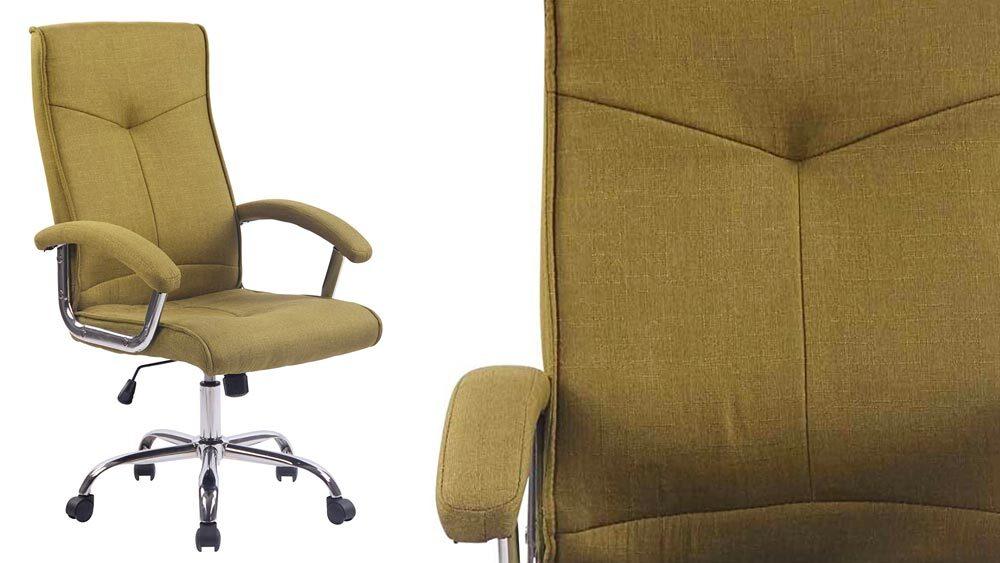 Stile per interni in vera pelle a coste sedia da ufficio in nero o bianco con base cromata e ruote Nero