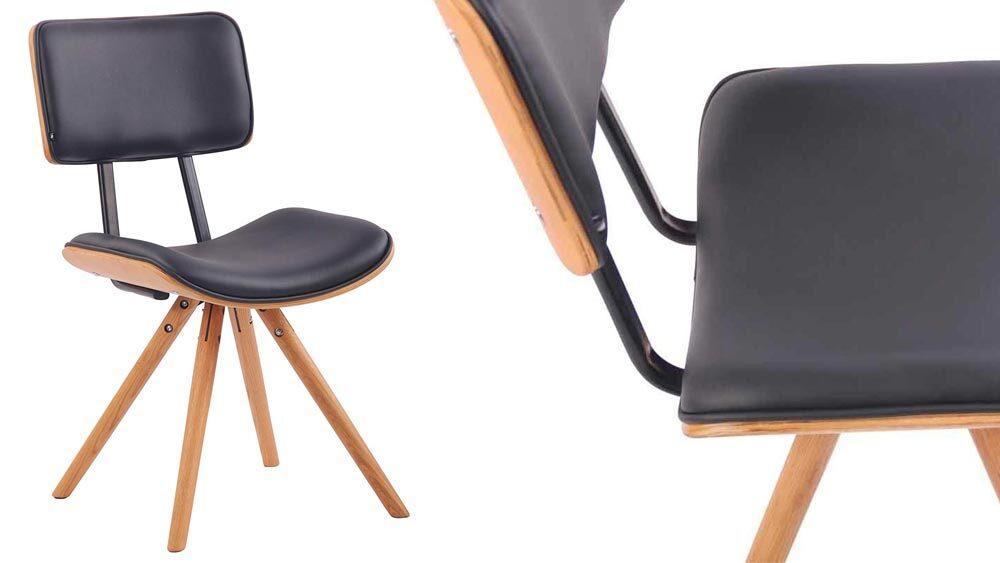 sedie vintage pelle nera