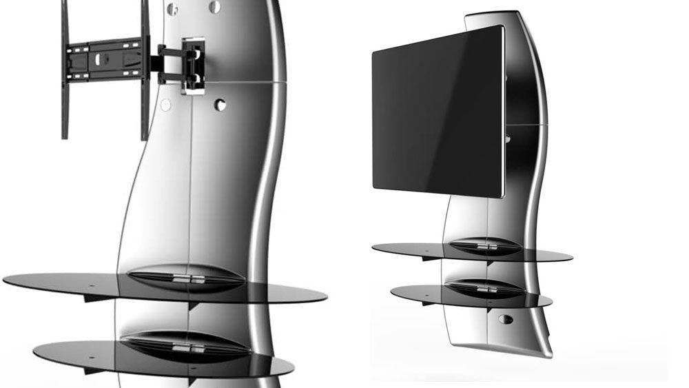 mobile porta tv in acciaio moderno