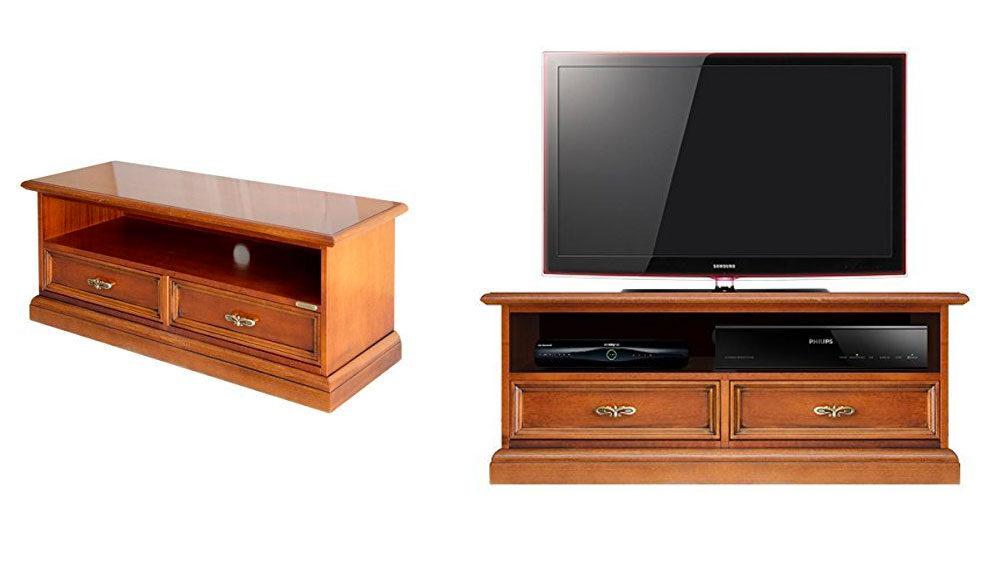 mobile porta TV con cassetti in legno classico