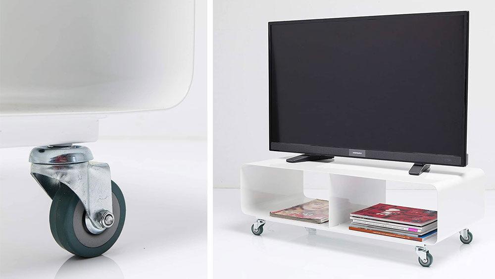 mobile porta TV con ruote bianco