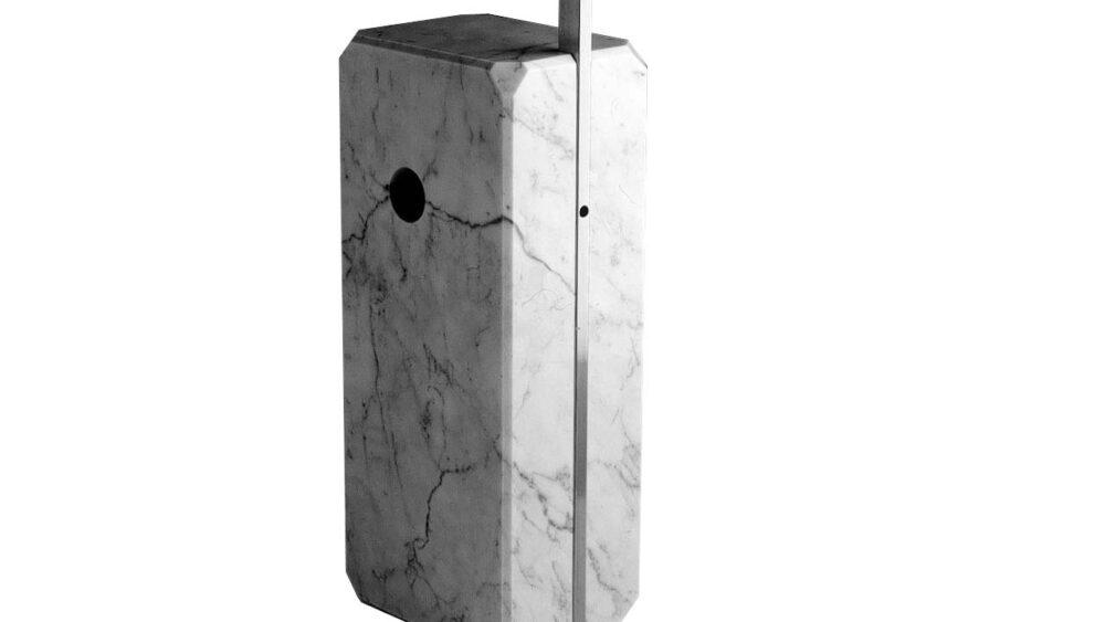 base di marmo delle lampada ad arco originale