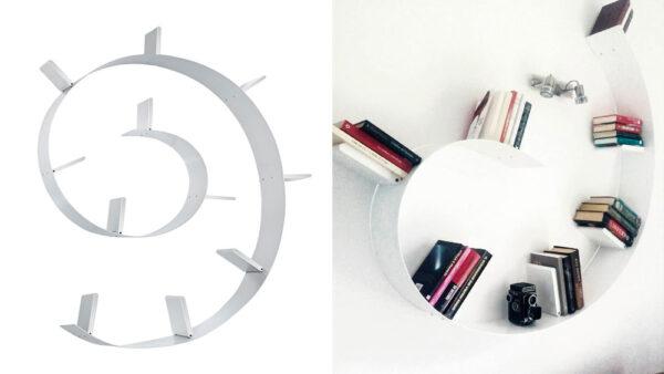 mensola di design particolare a spirale