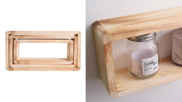 mensola di design in legno chiaro