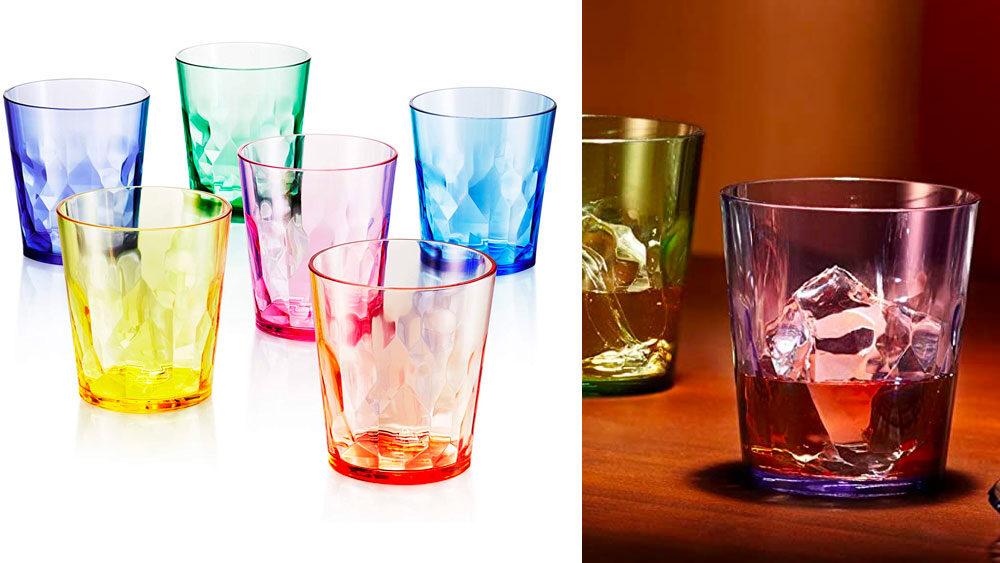 bicchieri colorati per acqua