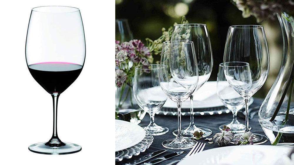 set di bicchieri da vino di design