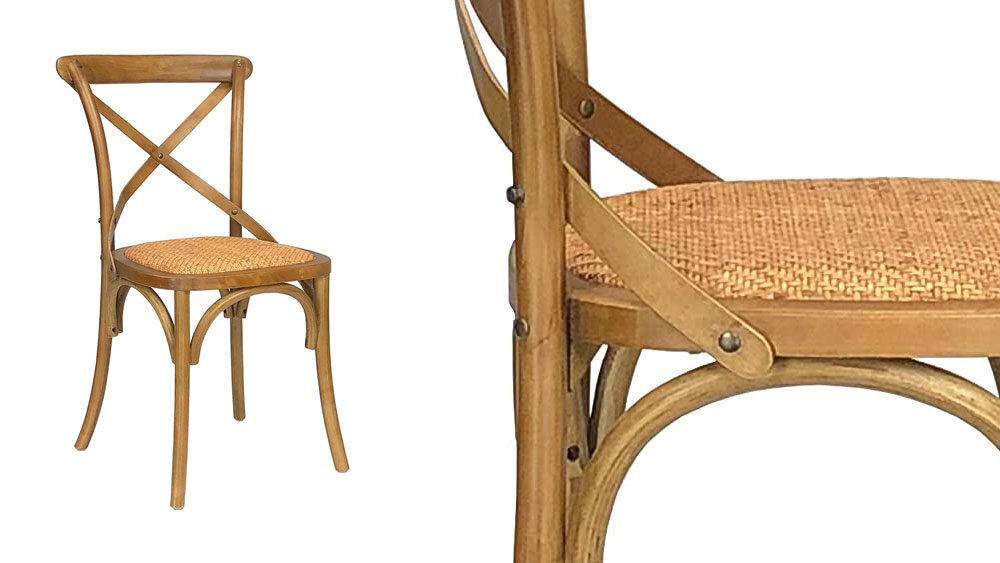 sedie vintage in legno chiaro
