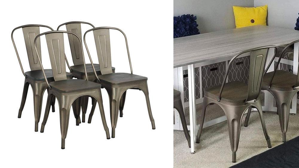 sedie vintage in ferro simil industrial